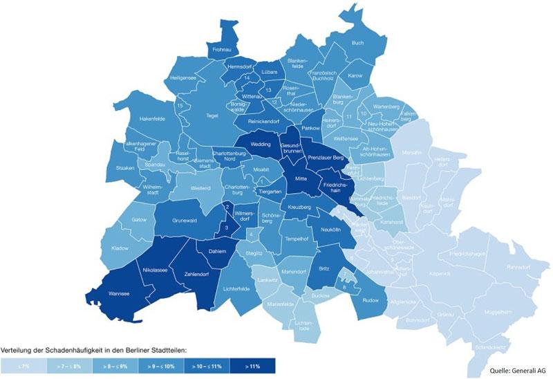 Einbruchrisiko in Berlin