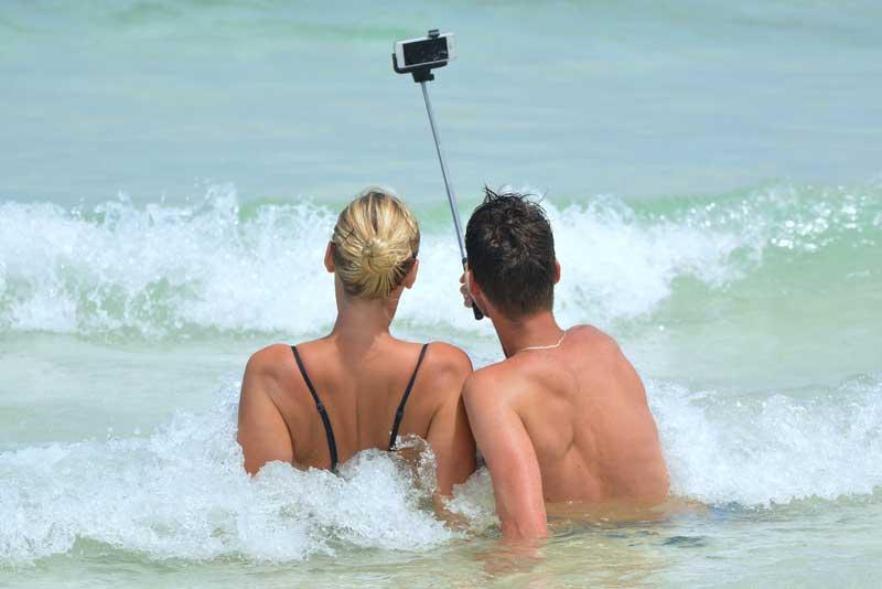 Smartphone im Urlaub